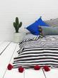 Sedona East Home Poms Blanket