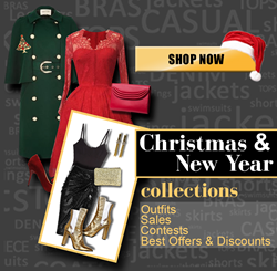 Christmas & New Years Clothing, Outfit & Fashion Ideas with huge online discounts.