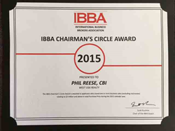 Phil Reese , Scottsdale Business Broker - Awarded The Chairman's Circle Award For 2015