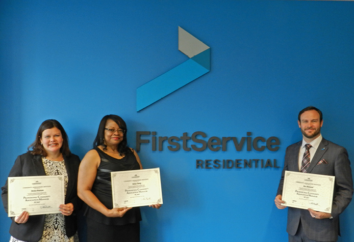 FirstService Residential Associates Earn PCAM® Designations