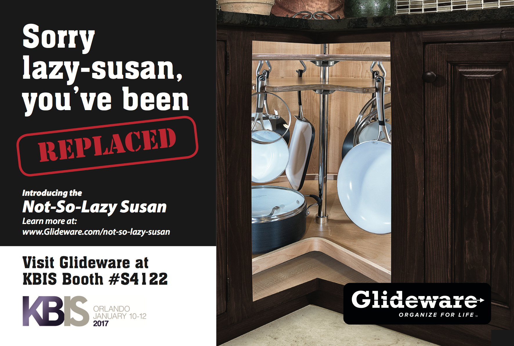 Glideware Introduces The Not So Lazy Susan An Upgrade For