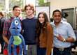 """Blooob"" Cast Members- (left to right) - Justin Galluccio, ""Blooob"", Zane Huett, Lexi Yob and Tyrone Tann"
