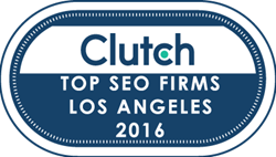 Top SEO Firm in Los Angeles in 2016 by Clutch