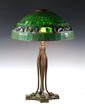 Tiffany Studios signed Turtleback Lamp