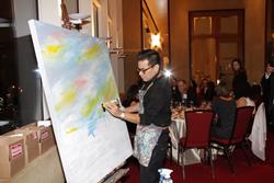 Houston artist Edgar Medina paints live for Grant-A-Starr Foundation Gala fundraiser.