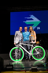 "Mike Gardner, CEO of Kane Is Able, won the ""Fearless Fundraiser"" Pelotonia for his efforts to raise funds for cancer research"