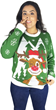 Hello Deer Light Up Ugly Christmas Sweater