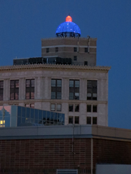 Mckay Tower Dome Lit Up