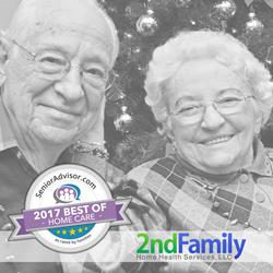 2nd Family, winner of the 2017 SeniorAdvisor.com Best of In - Home Care Award for superior senior in-home care in Maryland.