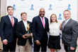 2017 BBB Torch Award for Marketplace Ethics Recipient Todd Thomas, second from left, President and partner, Elan Industries, accepts this honor.