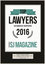 SJ Magazine in South Jersey Best Lawyer Award for Tom Marrone