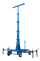 Portable Mini Tower with Wheels, Stability Outriggers, and a 12' Mast