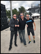 Jimmy D Robinson backstage with A Flock of Seagulls at Riptide Music Festival Sunday, December 4.