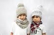 KraeO Kids Pom Pom Hats, Cowls and Bandanas