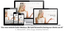 Personalized Jewelry, Responsive Designs for Gugu Jewelry's Website