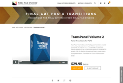 TransPanel Volume 2 - FCPX Plugin - Pixel Film Studios
