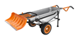 WORX Aerocart with Snow Plow Attachment