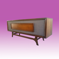 GE Vintage Stereo Console | Repurposed Midcentury Modern Stereo Cabinet
