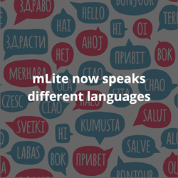 mLite goes global and speaks different languages