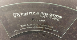 Taft Communications' Probing Look at NJ Diversity  Wins National Award