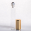 15ml (1/2 oz) Clear Glass Tube Roll-on Bottle with Stainless Steel Roller and Gold or Silver Cap (1250 complete pieces in a case)