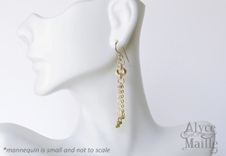 Seline's Forever Gold Tassel Earrings from Alyce n Maille