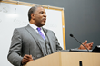 Robert F. Smith speaks to students at the NPower Baltimore Class 1 Graduation