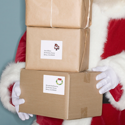 Avery Labels make holiday shipping and mailing easy.