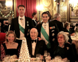 Standing: HRH Prince Philibert Emmanuel of Savoy and Savoy Foundation Chairman Carl J. Morelli, Esq.; Seated: Ms. Helen Fioratti, Mr. Luigi Cheli and Ms. Janine Metz