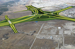 Computer representation of the planned Southwest portion of the Calgary Ring Road Project