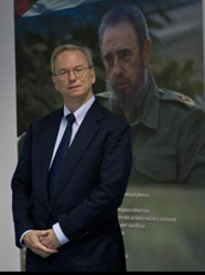 Eric Schmidt and Dictator Fidel Castro