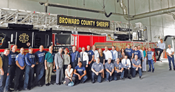 People's Trust, city officials and members of Deerfield Beach Fire Rescue Station 102