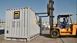 CakeBoxx 20' container in yard