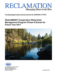 CWMP Phase II Watershed Project Funding Opportunity