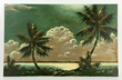 James Gibson (American, 1938-), tropical seashore view, oil on masonite byJames Gibson a noted Florida Highwayman artist