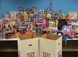 UMA donated 408 toys and gifts from students, faculty and staff.