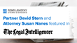 Partner Dave Stern and Associate Susan Nanes Featured in The Legal Intelligencer