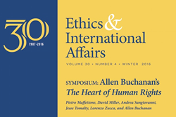 """Ethics & International Affairs"" Winter 2016 Issue (Vol. 30.4)"