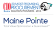 Maine Pointe Recognized as One of the 20 Most Promising Procurement Solution Providers 2016 by CIOReview