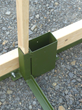 Wood stringers increase the base radius for added stability in windy conditions