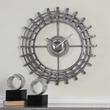 Silver Industrial Wall Clock | ModelDeco.com
