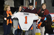 Fred Koons, a Retired Staff Sergeant with the US Army, being honored as the Lehigh Valley Phantoms' Hometown Hero, presented by First Generation where Fred works as an Account Manager.