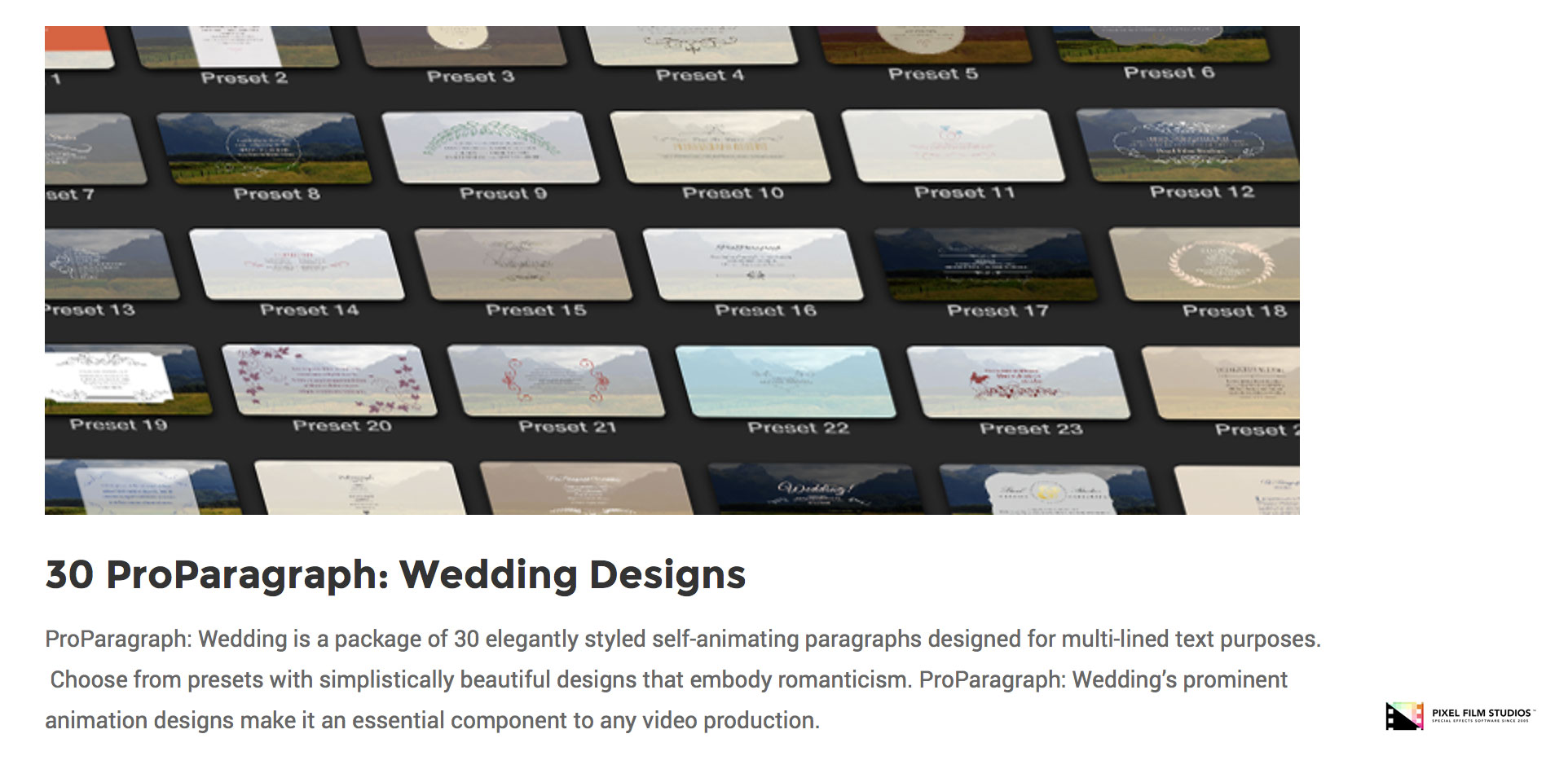 pixel film studios set to release proparagraph wedding for