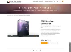 Pixel Film Studios - FCPX Overlay Glimmer 5K - FCPX Plugin
