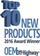 OEM Off-Highway™ Magazine Announces 2016 Top Ten New Product Winners for Product Development Teams at Heavy-Duty Equipment Manufacturers