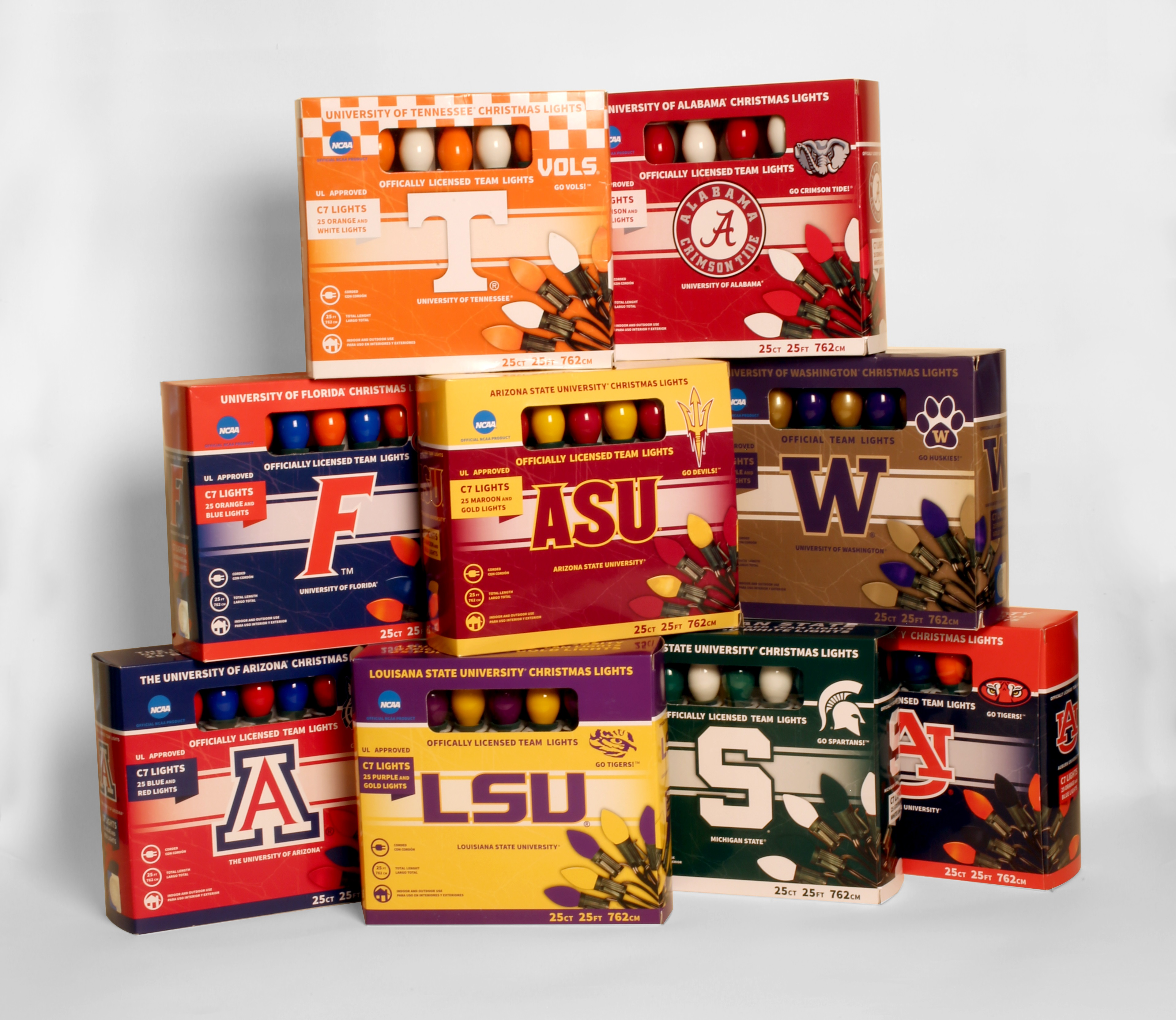 lets light it up offers official christmas lights for the top 25 college teams