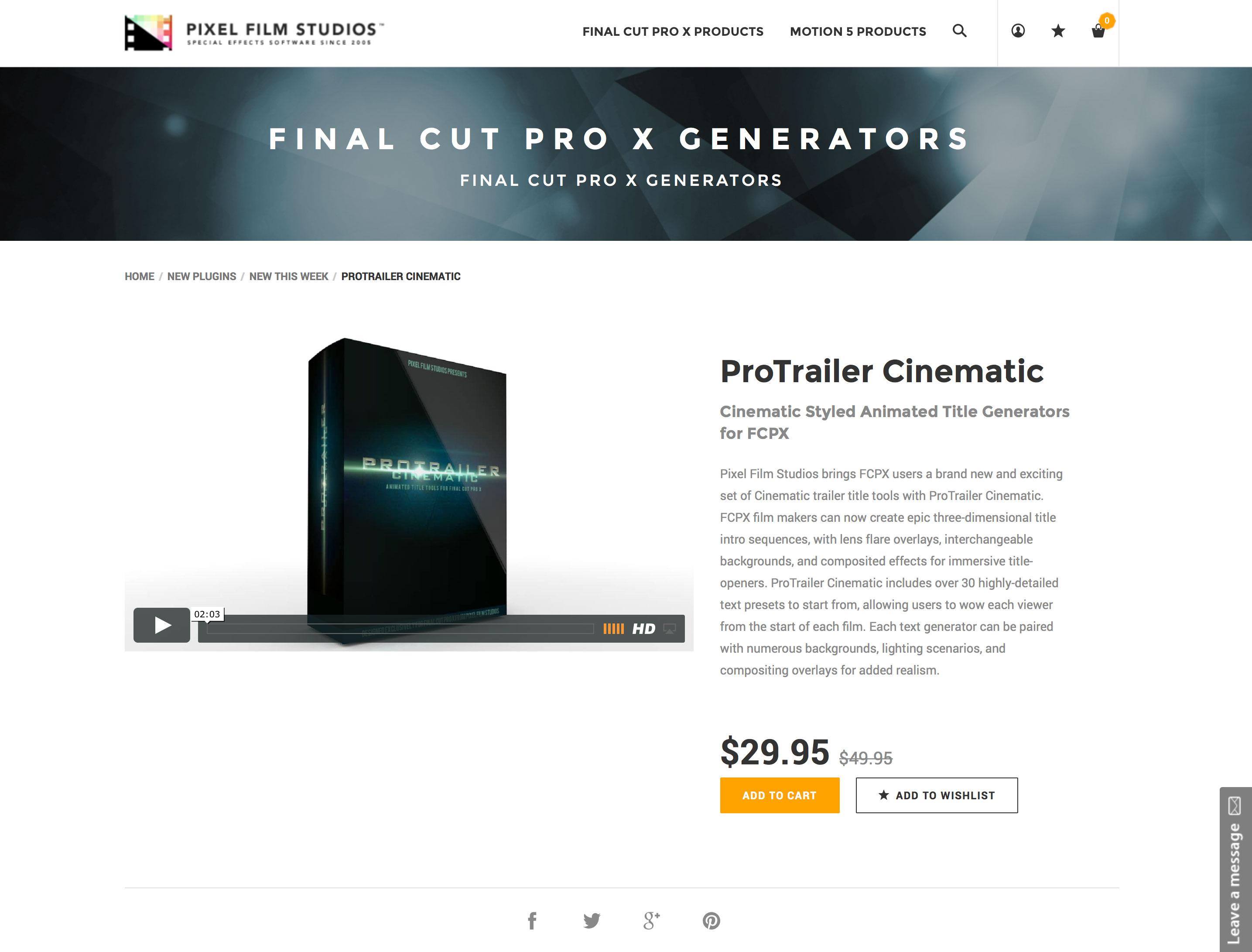 Pixel Film Studios Development Team Releases ProTrailer