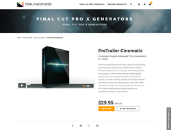 Final Cut Pro X - ProTrailer Cinematic - Pixel Film Studios Plugin