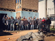 Volunteers at Habitat for Humanity