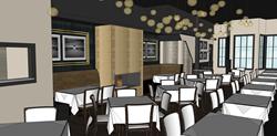 Greensleeves Steakhouse Dining Room Rendering
